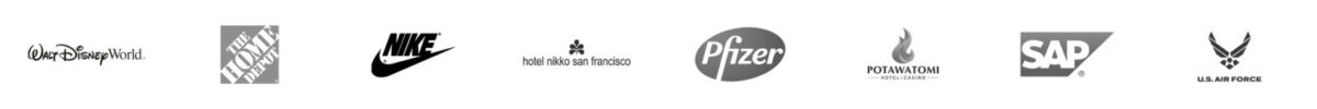 Berkana Clients - Walt Disney World, The Home Depot, Nike, Hotel Nikko San Francisco, Pfizer, Potawatomi Casino and Hotel, SAP, US Air Force
